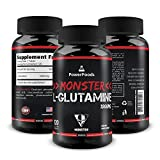 Pure Glutamine ★ Monster L-Glutamine x120 Tablets (Easy to Swallow) ★ 1000mg Amino Acid ★ Supports Muscle Growth and Recovery + Boosts Immune System + Intestine Health Review