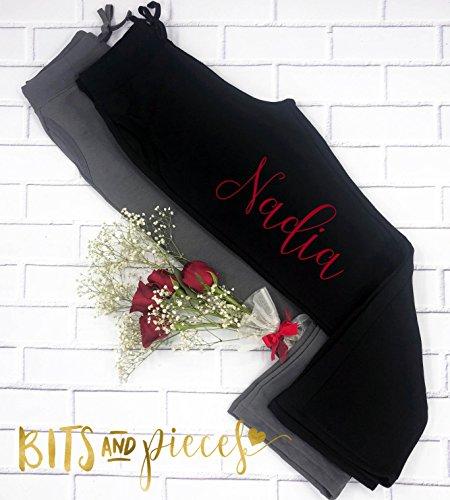 Bridal Party Pants |Bride Sweatpants|Bridesmaid workout pant| Maid of Honor| bottoms| fleece| Bachelorette Party| Bachelorette Spa Day
