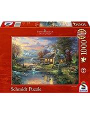Stark reduziert: Schmidt Spiele Puzzle 59467 - Thomas Kinkade, Im Naturparadies, 1.000 Teile Puzzle und mehr