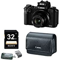 Canon PowerShot G5 X 20.2MP Digital Camera (Black) with Canon Deluxe Leather Case PSC-5400 & 32GB Accessory Bundle At A Glance Review Image