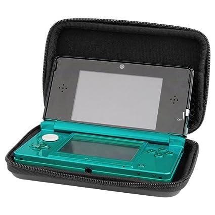 Negra Negro EVA Bolsa Funda Para Nintendo 3DS / DS Lite