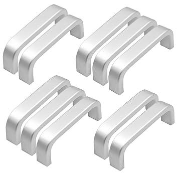 Qrity 10X Mini Maniglie per Ante di mobili in Alluminio, Viti ...