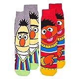 Mens 2pk Bert And Ernie Face Sesame Street Socks
