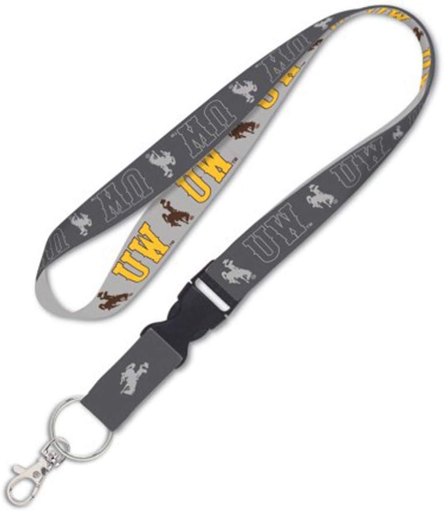 Charcoal Edition WinCraft Wyoming Cowboys Premium Lanyard Key Ring