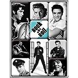 Nostalgic-Art 83041 Celebrities - Elvis, Magnet-Set (9-teilig)