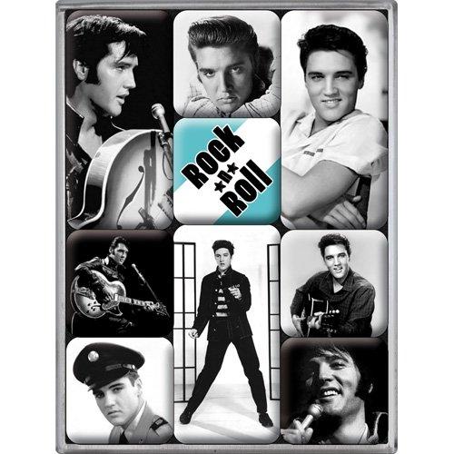 Nostalgic-Art Elvis Presley Rock N Roll Fridge Magnet Set
