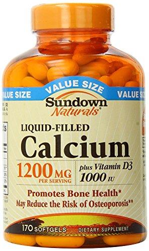 Sundown Calcium Plus D3, 1200 mg, Liquid-Filled, 170 Softgels (Pack of 2)