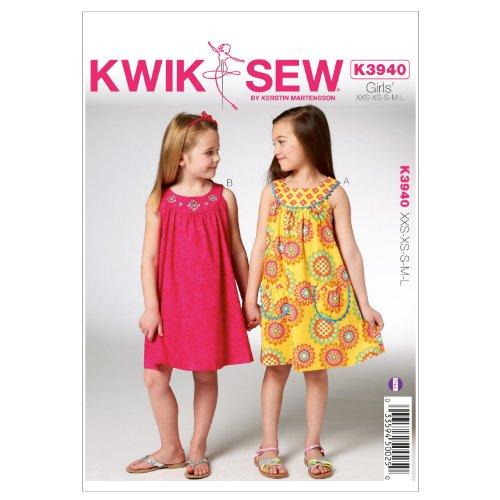 KWIK-SEW PATTERNS Kwik Sew K3940 Girls Dresses Sewing Pattern, Size XXS-XS-S-M-L by KWIK-SEW PATTERNS