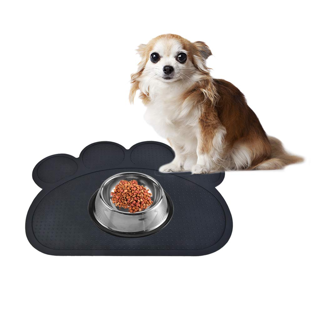 Godagoda Pet Dog Cat Food Water Feeder Bowl Blanket Non-Slip Mat Safety Silicone Cute Paw Shape 1 Pc by Godagoda (Image #3)