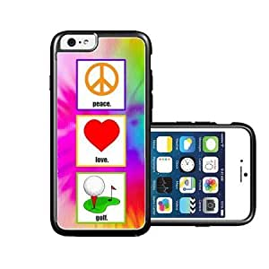 RCGrafix Brand Love Peace Golf iPhone 6 Case - Fits NEW Apple iPhone 6