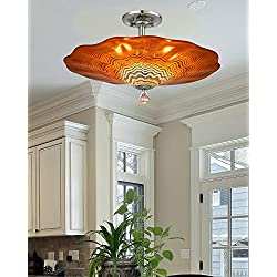 "Dale Tiffany AH18003 Titan Flush Mount Ceiling Light, 20"", Amber"