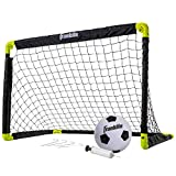 "Sporting Goods : Franklin Sports Kids Mini Soccer Goal Set - Backyard/Indoor Mini Net and Ball Set with Pump - Portable Folding Youth Soccer Goal Set - 36"" x 24"""