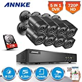 ANNKE 8CH HD-TVI Security Camera System, 1080N CCTV DVR with 1TB Hard Drive and (8) 720P Outdoor Day/Night Surveillance Cameras, Easy Remote Access Motion Detection Video Security System
