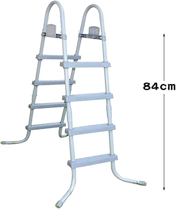 MOOLUNS Piscina Niño Doble Cara Escalera Mecánica Aleación de Aluminio Equipo,Aplicar para Más Piscina de Tierra, Altura 84cm/33in: Amazon.es: Deportes y aire libre