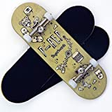 P-Rep Stuff 30mm Graphic Complete Wooden Fingerboard w CNC Lathed Bearing Wheels