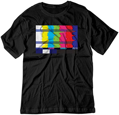 BSW Men's No Channel Color Bars Vintage Off-Air TV Shirt 5XL Black