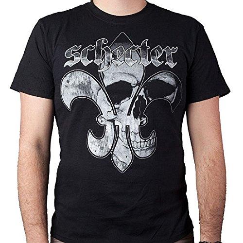 Schecter Guitars - Fluer De Skull T-Shirt (Medium)