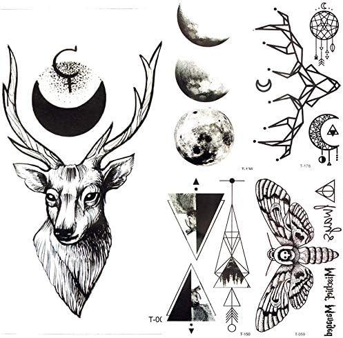 yyyDL tatuajes temporales Falsos tatuajes 3D Mujeres temporales ...