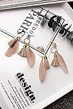 Generic Korean version of the new winter country elegance Bohemia feather retro long tassel earrings ear jewelry