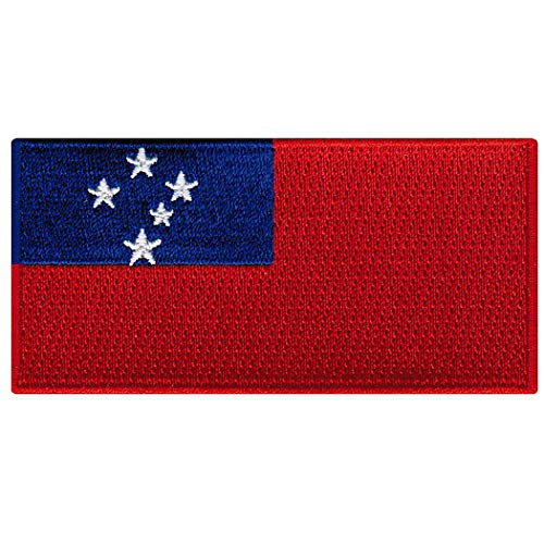 (Samoa Flag Embroidered Patch Iron-On Samoan Islands National Emblem)