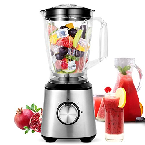 Powerful 800 Watt Motor (Meykey Smoothie Blenders, Countertop Blender 800W for Shakes and Smoothies with BPA Free Blender Jar 2-Speed Control,1.5l)