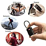 ITAOLEBI Luggage Locks TSA Approved Travel Suitcase Combination Padlock 3 Digit Combination Added Security(2 Black & 2