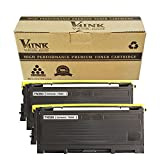 V4INK 2 Pack New Compatible Brother TN350 Toner Cartridge-Black for Brother HL-2030 HL-2040 HL-2045 HL-2070 HL-2075,DCP-7010 DCP-7025 MFC-7220 MFC-7420 MFC-7820,FAX-2810 FAX-2820 FAX-2910 FAX-2920