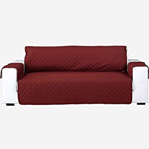 GOPG Reversible Sofa Cover for Dog Pet Child, Machine Wash Sofa Slipcover Non-Slip Anti-Grab Stain Resistant Furniture Protector Couch Covers for Recliner 3 Cushion Couch Loveseat -Chair 54x210cm-B