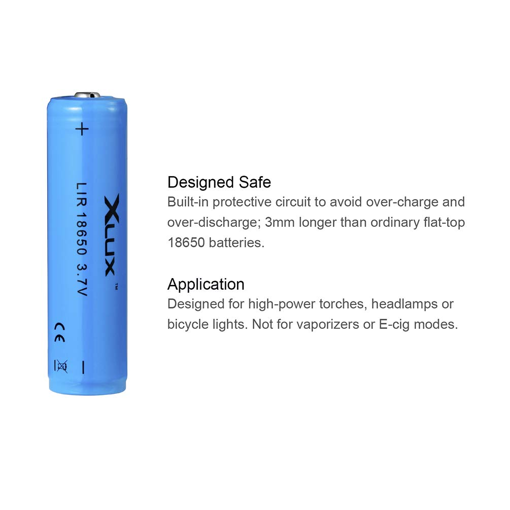 Charge Anywhere 18650 Li Ion Rechargeable Battery With Charger For How To Make A Led Flashlight Bulb 8211 2 15 Volt Batterie Torch Headlamp And Bicycle Light Batteries 1 Usb