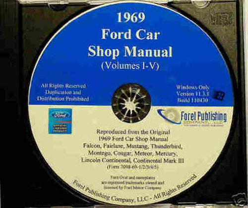 1969 LINCOLN & MERCURY REPAIR SHOP & SERVICE MANUAL CD INCLUDES Continental, Continental Mark III (1968 1969) Brougham, Comet, Cougar, XR-7, Cyclone, Cyclone CJ, Marquis, Marauder, Meteor (Canada), Montego, MX, MX Brougham, Monterey Custom ()