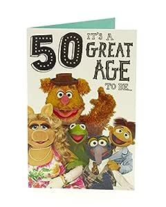 Hanson 345822-0-1 Disney Muppets - Tarjeta de 50 cumpleaños ...