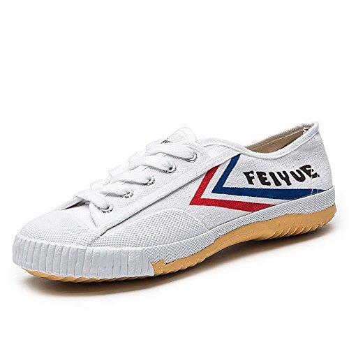 dafufeiyue Feiyue Shoes Original Classic Kungfu Martial Arts Black Shoes (EU43, Original White)