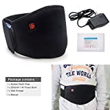 stomach electric belt - ARRIS Heating Waist Belt / Lower Back Heat Therapy Wrap / Heated Belt / 7.4V Rechargeable Battery Powered for Back Pain Relief Muscle Strain Back Warmer