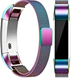 Vancle For Fitbit Alta HR Band/Alta Band, Fitbit Alta Accessories Replacement bands Metal Wristband Band Strap with Magnetic Closure Clasp for Fitbit Alta HR/Fitbit Alta(Colorful, Large)
