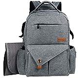 Hap Tim Diaper Bag Backpack, New Generation Water Resistant Large Baby Bag Travel