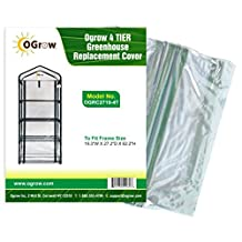 oGrow 19.3 x 27.2 x 62.2-Inch 4-Tier Greenhouse Replacement Cover by OGrow