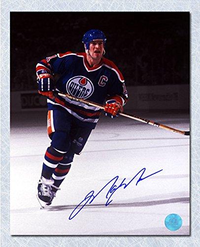 Mark Messier Edmonton Oilers Autographed Captain Spotlight 16x20 Photo