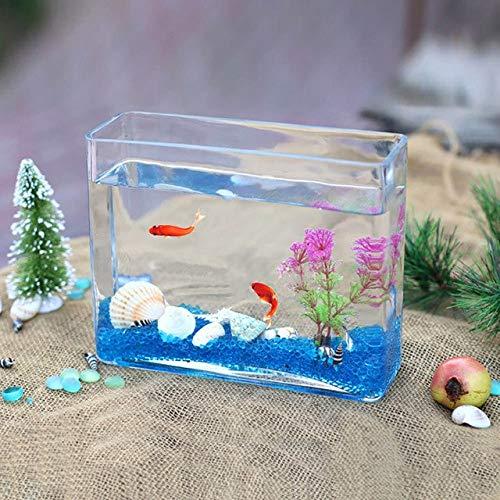 Transparent Glass Sea Fish Tank Integrated Molding Fish Tank Aquarium Home Living Room Decoration Thick Wall Hyonic Vase   F style, Fish tank