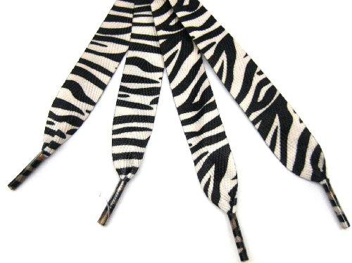 Black White Zebra Fashion Shoelace