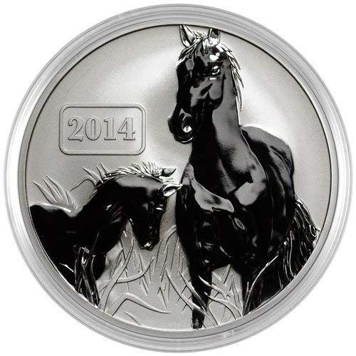 "2014 TK Tokelau Reverse Proof""Horse"" Silver Coin 1 Ounce Silver Dollar Uncirculated"