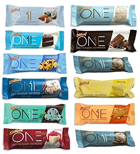 [Oh Yeah! One Bar Super Variety 12 Count ALL FLAVORS] (Think Thin High Protein Bar Chocolate Fudge)