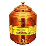 Taluka Pure Copper Water Pot Dispenser Matka Water Tank Water Storage Capacity :- 574.8 Oz for use Storage Drinking Water Restaurant Hotel Home Ware