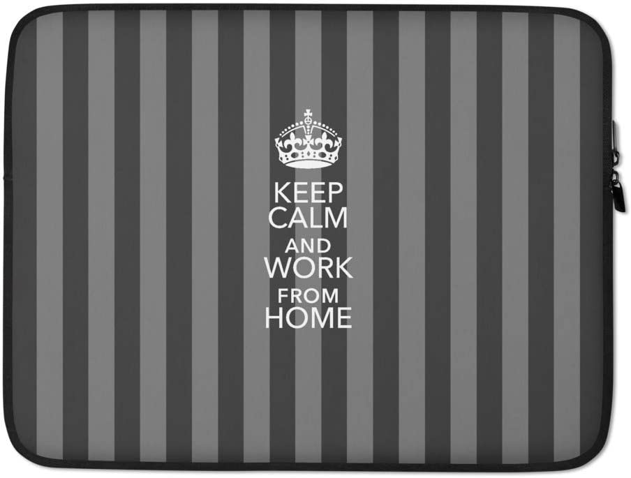 Stripes I Laptop Sleeve Keep Calm and Work from Home