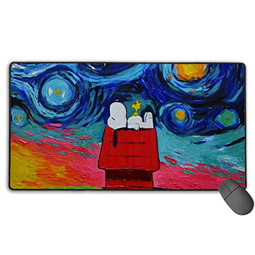 WSXEDC Snoopy Watercolor Gaming Mousepad Desk Pad Ideal for Both Gaming (Snoopy Computer Mouse)