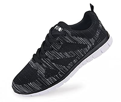Vibdiv Men's Lightweight Athletic Sneakers Lace-Up Mesh Distance Running Shoes