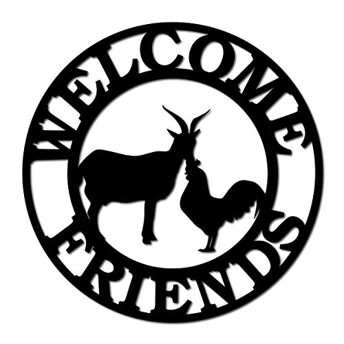 Southern Design WFS-04 Metal Welcome Sign - Friends (Goat & -