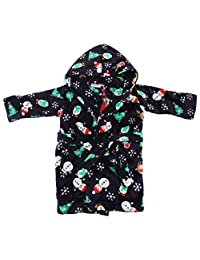 Baby Unisex Supersoft Hooded Christmas Dressing Gown/Bath Robe