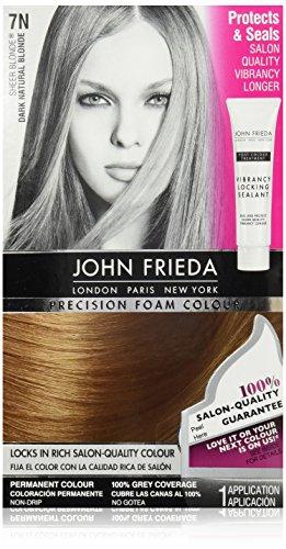 John Frieda Precision Foam Colour Hair Dye, Dark Natural Blonde, 8.16 - Colour Blonde Hair