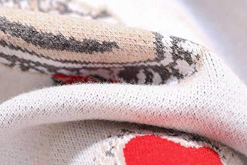 Sciolto L E Modello Donne Inverno Autunno Katylen Amore Maglione Bianca Pullover Ricamo 0Yw7PT