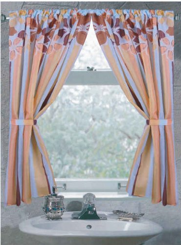 "Carnation Home Fashions ""Mandy"" Fabric Window Curtain"
